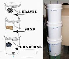 How to Build The Awesome Three Bucket Bio-Water-Filter | Self-Sufficiency