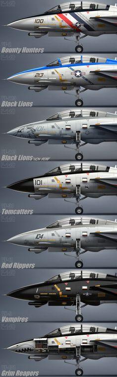 F-14D Squadrons by Siregar3D on DeviantArt