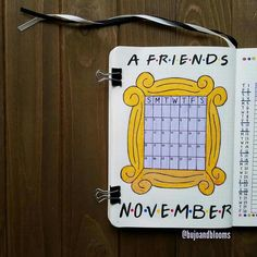 Friends Inspired Bullet Journal Layout Friends tv show inspired bullet journal layouts and theme for inpiration for your next bullet journal theme! Bullet Journal Quotes, Bullet Journal Notebook, Bullet Journal Aesthetic, Bullet Journal School, Bullet Journal Inspo, Bullet Journal Layout, Bullet Journals, Bullet Journal Christmas, January Bullet Journal