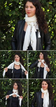 Double Loop | 13 stylish ways to tie a scarf | HelloNatural.co