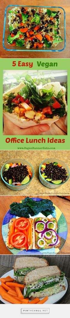 5 Easy and Healthy Vegan Office Lunches, no leftovers needed!