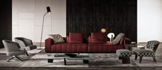 Today we want to present you some living room ideas brought directly from Milan, Salone del Mobile. The items we'll present you were created by Minotti 2 Living Room Ideas, Living Room Modern, Living Room Chairs, Home And Living, Living Room Furniture, Living Room Decor, Dining Chairs, Dining Room, Dining Table
