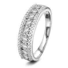 Ring i 375 gull med diamant 1,00ct WP