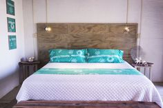 All our cabin are just steps away from the beach. We use local fabrics, and hand-made furniture in all our cottages.