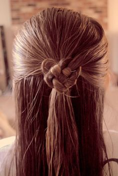 Hair - Heart - Valentine's Day - Celtic Heart - Beautiful hairstyle I did on my daughter:)