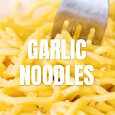 Garlic Noodles - The easiest and best noodles with garlic, butter, Parmesan cheese and Asian seasoning sauces. Tastes just like the best Asian restaurants! Brunch Recipes, Snack Recipes, Dessert Recipes, Cooking Recipes, Garlic Noodles Recipe, Asian Seasoning, Kefir Benefits, Garlic Butter, Butter Shrimp