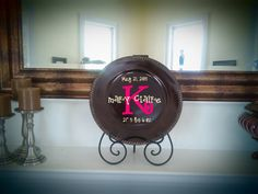 decorative personalized charger plate