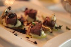 Anatra Al Vino Rosso @ LUPA Hong Kong -  Roasted Duck Breast with Soft Potato, Honey Mushroom and Barolo Reduction