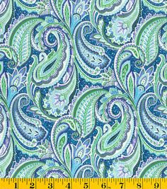 Made in America Cotton Fabric- Purple Paisley