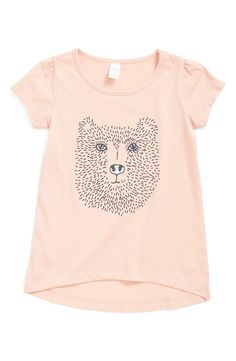 High/Low Graphic Tee (Toddler Girls, Little Girls & Big Girls)