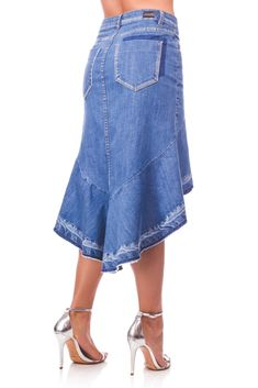 Jean Outfits, Skirt Outfits, Demin Skirt, Denim Ideas, Trendy Swimwear, Jeans Rock, Denim And Lace, Recycled Denim, Denim Fabric