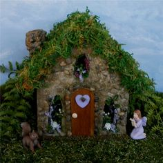 Fairy House Fairy Garden Stone Fairy Cottage by enchantedgardens