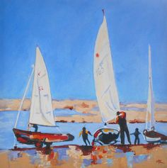 Sailing on the East Coast. Original Contemporary Art. by marykemp. #saling #art