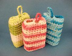 Crochet soap saver and skin defoliator. Free pattern. #bathroom
