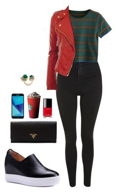 Street style by dalma-m on Polyvore featuring polyvore fashion style Topshop Prada Stephen Webster Chanel Samsung clothing