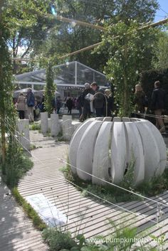 The Water Station Garden, a 'Fresh Garden' by Pepa s Krasa at the RHS Chelsea Flower Show 2015.