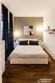 Organizing and designing a small double bedroom could be a problem