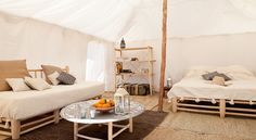 Glamping in the Moroccan desert