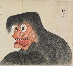 """""""おどろし;Odoroshi"""" from """"化物尽絵巻;Bakemono zukushi Emaki"""" by 北斎季親;Hokusai-Suechika"""