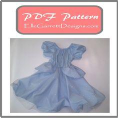 PDF Pattern  Princess Ball Gown size 6 by ellegarrettdesigns, $5.00