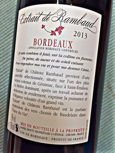 El Alma del Vino.: Vignobles Daniel Mouty Extrait de Rambaud 2013.