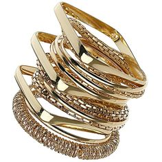 Mesh and gold look mix bangles ($27) ❤ liked on Polyvore featuring jewelry, bracelets, accessories, rings, pulseras, gold hinged bracelet, hinged bangle, yellow gold bangle bracelet, bracelet bangle and bangle bracelet