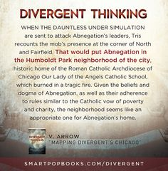 """FromVArrow's essay """"Mapping Divergent's Chicago"""" inDivergent Thinking: YA Authors on Veronica Roth's Divergent Trilogy Learn more and get..."""