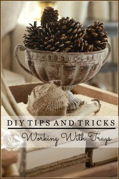 HOW TO MAKE A STYLISH VIGNETTE IN A TRAY. Easy step-by-step directions stonegableblog.com