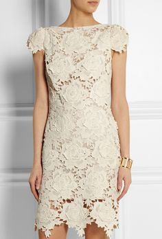 Brides.com: . Star chrocheted cotton-lace mini dress, $750, Lover available at Net-a-Porter See more lace wedding dresses.