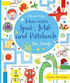 Mein erstes Spiel-, Mal- und Ratebuch für Jungs: Usborne zum Mitmachen: Amazon.de: Lucy Bowman, James Maclaine: Bücher