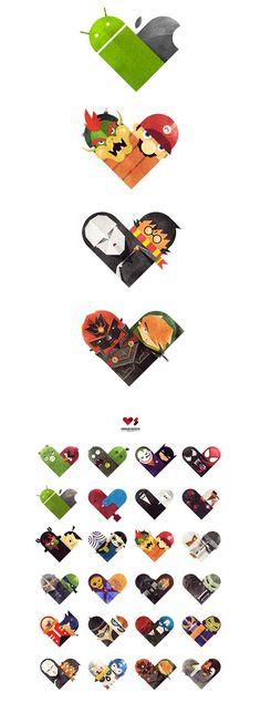Dan Matutina / Illustration series - Versus/Hearts