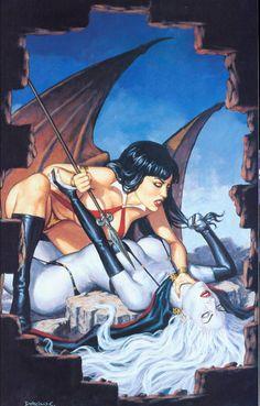 Lady Death and Vampirella Art Dorian Cleavenger @ www.dorianart.com https://www.facebook.com/dorian.cleavenger More Dorian Cleavenger @ http://groups.google.com/group/FantasyMagie http://groups.yahoo.com/group/A1-Fantasy-Art http://groups.yahoo.com/group/fantasy_forum ~Inge~ @ http://www.facebook.com/ComicsFantasy http://www.facebook.com/groups/ArtandStuff (like us pls!)