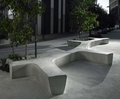 Marshalls - street furniture: Escofet Twig cast stone bench 1 of 9