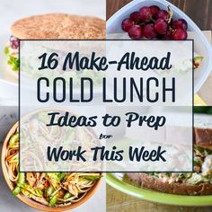 16 Make-Ahead Cold Lunch Ideas to Prep for Work This Week - Try prepping these awesome cold lunch ideas instead of reheating!