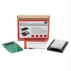 SYBA Accessory SY-ADA40091 Dual M.2 SSD to SATA III RAID Enclosure with Screw Set