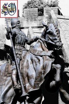 Statue of Henry Percy (Hotspur) in Alnwick Castle. Killed at the battle of Shrewsbury