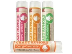 Crazy Rumors - Great lipbalms, all natural and organics and a lot of fun flavours!