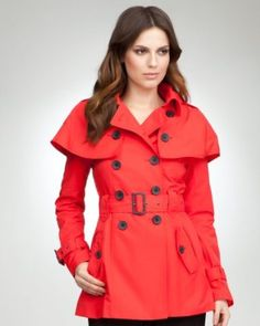 bebe Cape Trench Coat
