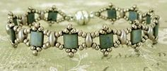 Linda's Crafty Inspirations: Free Beading Pattern: Tallulah Tila Bracelet