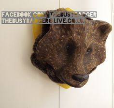 Made To Order: Paper Mache Bear Head wall art by TheBusyBadgerUK