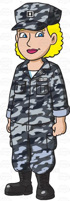 A Man Dressed In Us Air Force Airman Battle Uniform | Cartoon, Air ...