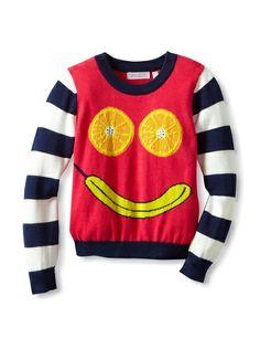 SHAE Girl's Oranges & Banana Longsleeve Sweater,