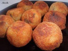 Receta aperitivo : Croquetas de berenjenas y gambas por Merchi
