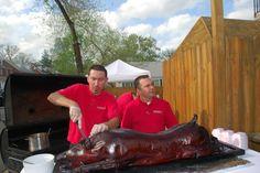 A whole pig for www.DoorwaysVa.org! Bbq, Coat, Barbecue, Barbacoa, Coats