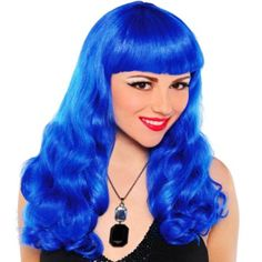 I Like This Electric Blue Wig from Party City for the Bachelorette Party
