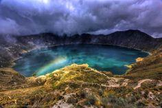 Quilotoa volcano crater, Ecuador