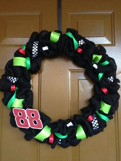 Custom Nascar Dale Earnhardt Jr. Wreath by JennysCustomWreaths, $25.00