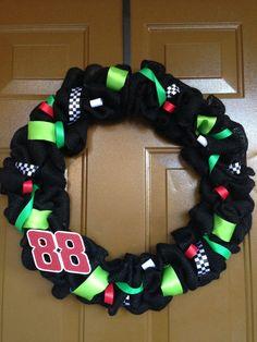 Custom Nascar Dale Earnhardt Jr. Wreath by JennysCustomWreaths, $25.00