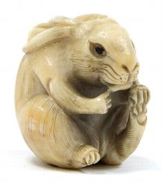 Japanese Netsuke | An ivory netsuke. 0th century,… - Asian and Applied Arts - Webb's ...