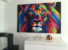 Perlebillede løve